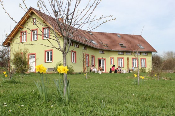 Karavanserai, the guesthouse, in spring