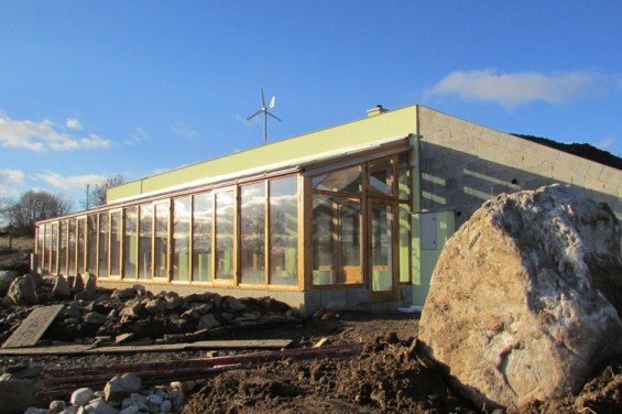 Prapati's earthship (still in construction)