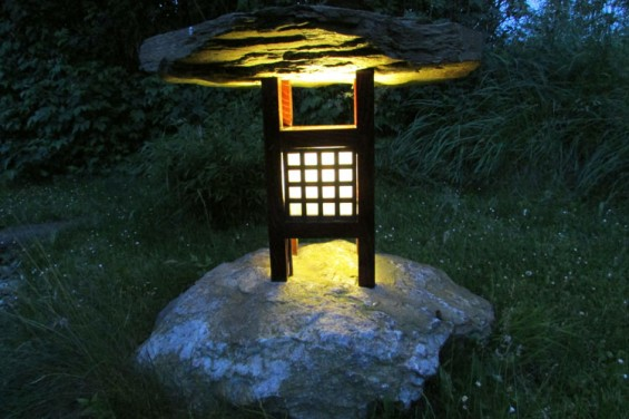 Lamp in the Shangri La garden