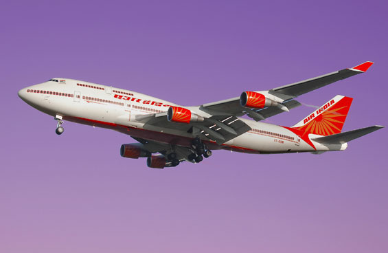 Air India in purple haze