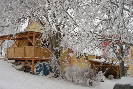 Bhagat's house in winter