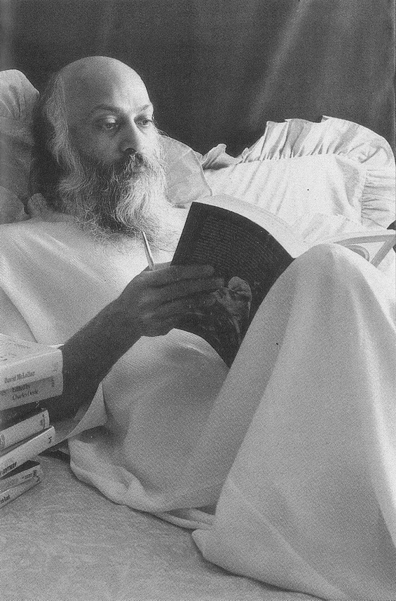 Osho Reading Book about