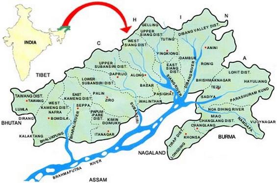arunachal_map