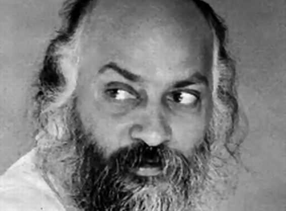 Osho looking to right