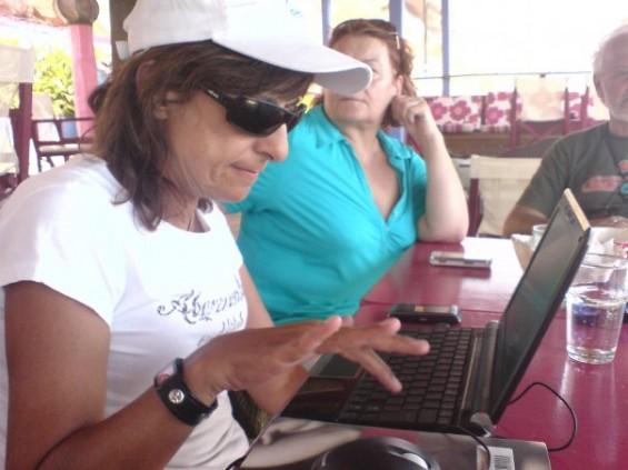 Varsha on laptop