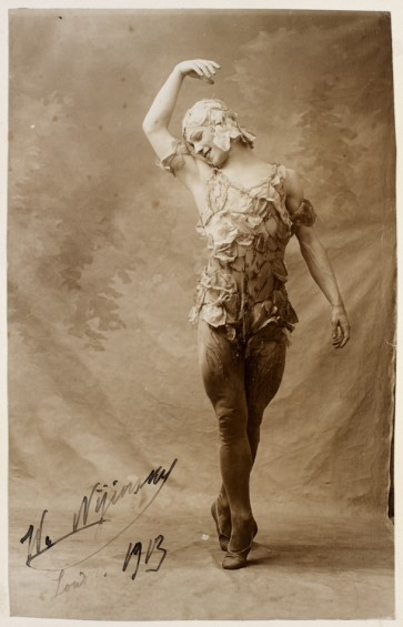 Nijinsky in Le Spectre de la Rose Ballets choreographed by Nijinsky