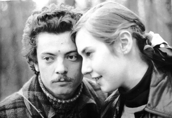 With his girlfriend in Berlin 1976
