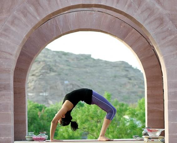 'Chakrasana' (Backward somersault)