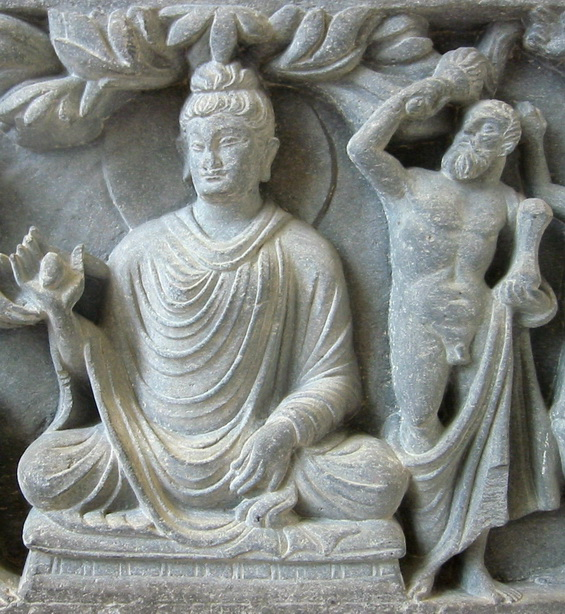 Buddha with Hercules as protector