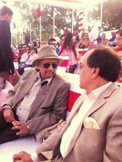 Former Indian Ambassador to Nairobi, Surindra Kumar with Kul Bhushan.