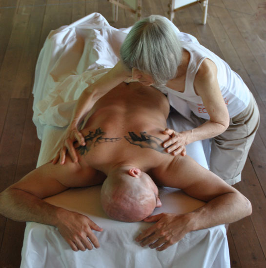 Sagarptiya teaching Psychic Massage