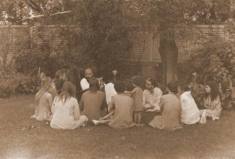 Darshan in garden