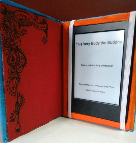 Attention to detail. Carved out a notebook handcrafted in India, into an Amazon Kindle book-cover for myself.