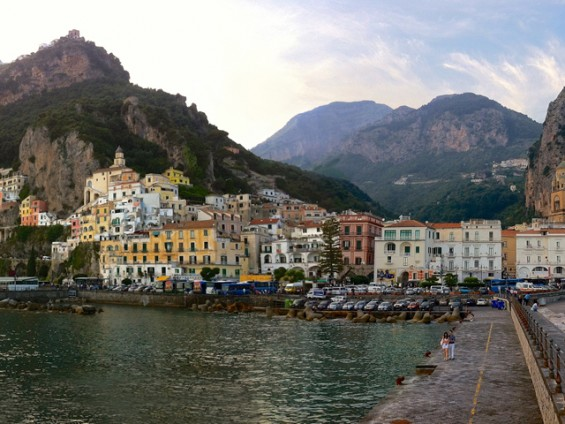 The harbor of Amalfi.