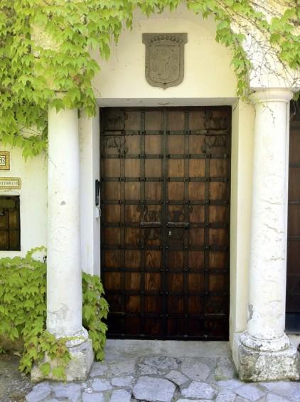 A leafy entrance.