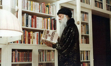 Osho in Library Feat