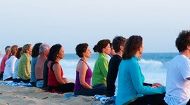 Group meditation ocean Feat