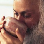 Osho drinking tea Feat