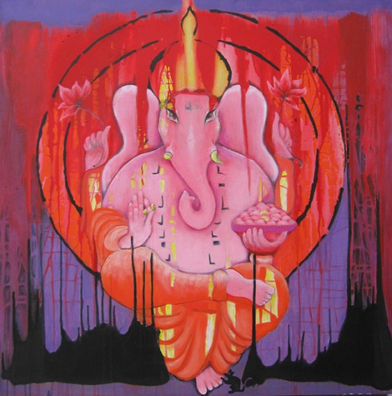 Ganesha, 100x100 cm, 2012