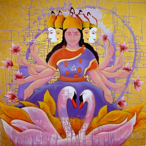 Gayatri Tara, 100x100 cm, 2012