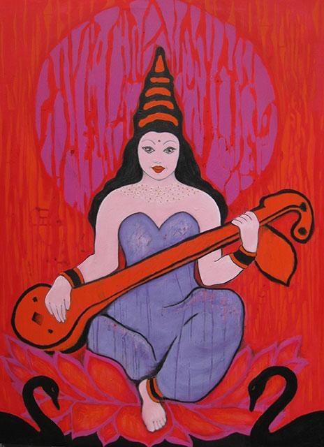 Saraswati, 120x90 cm, 2012