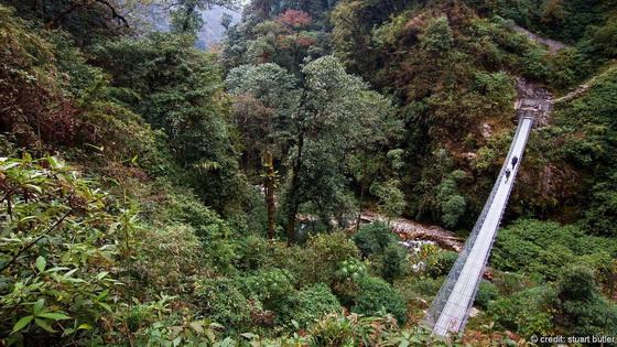 A bridge to the mountains
