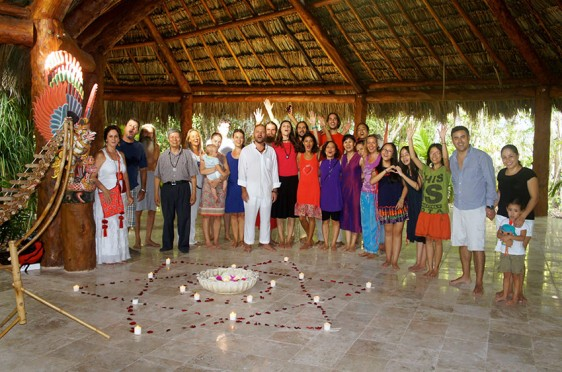 Opening of Full Moon palapa