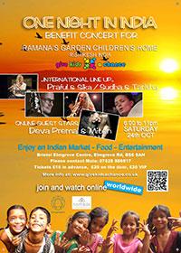 Ramana's Garden Concert poster