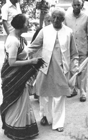 Krishnamurti and Indira Gandhi