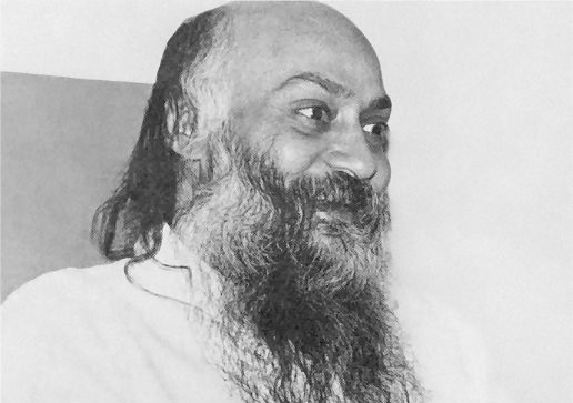 Osho smiling darshan