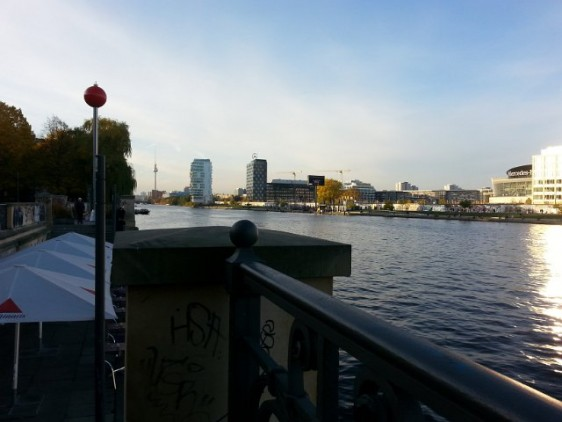 River Spree, view towards Alexander Platz