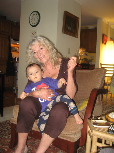 Anado and her grandson Alessio