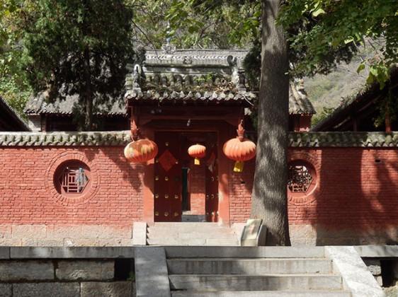 the silent Chuzu Temple at the foot of Wuru peak