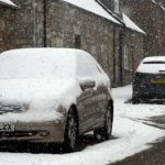 Car parked in snow