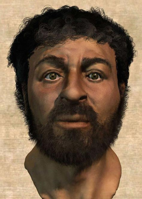 Reconstructed face of Jesus