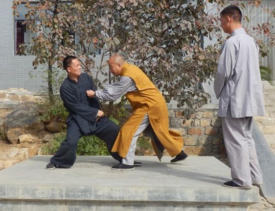 Shifu Wu Nanfang and his two head coaches