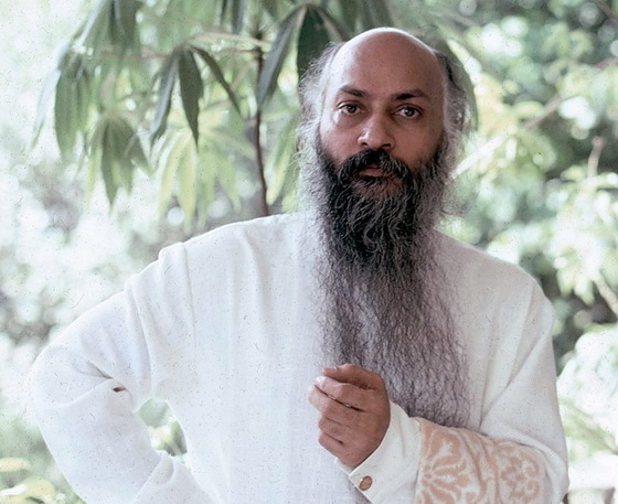 Osho with towel on terrace