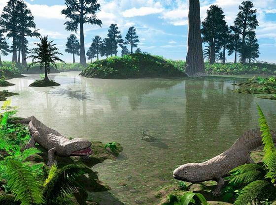 Prehistoric pond