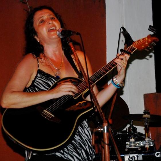 040 Marga on guitar