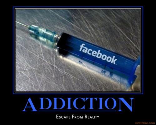 Demotivational Facebook addiction