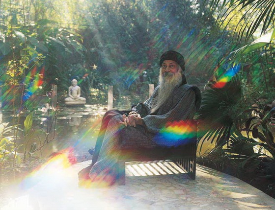 Osho in his garden Rainbow