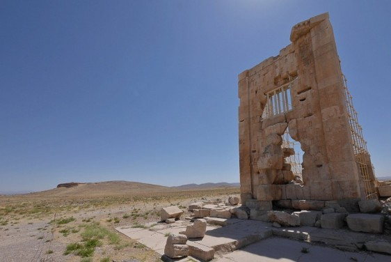 From the tomb of Cambyses I, the successor of Cyrus, only some ruins have remained
