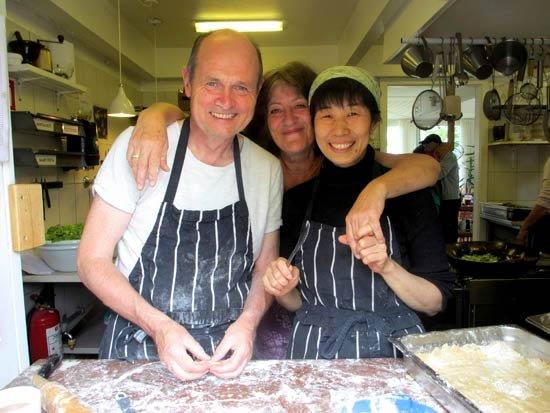 Sudas, chef Lino and Yoko
