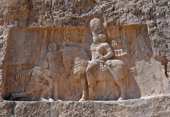 Shapur I after his victory against the Romans
