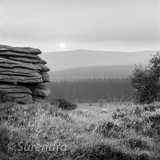 Sunset near Fernworthy, Dartmoor, UK