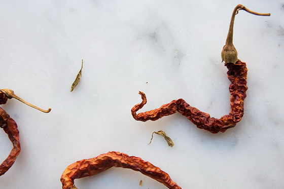 Dried up chillies