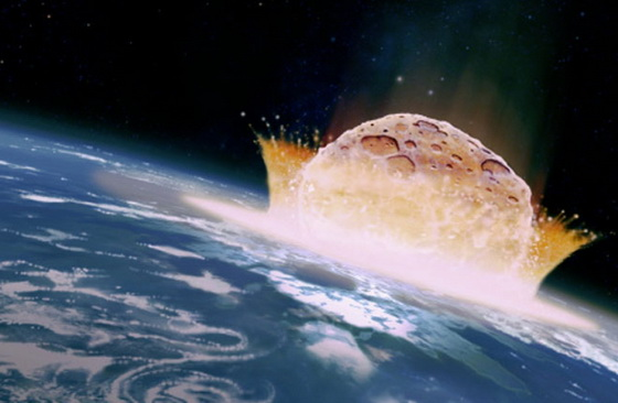 Earth hit by meteorite