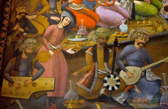 Court Musicians - Santur, Kamangah and Setur are still important instruments in Persian music