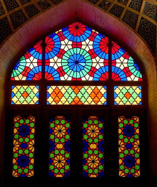 Naser-ol-Molk - windows in the prayer hall