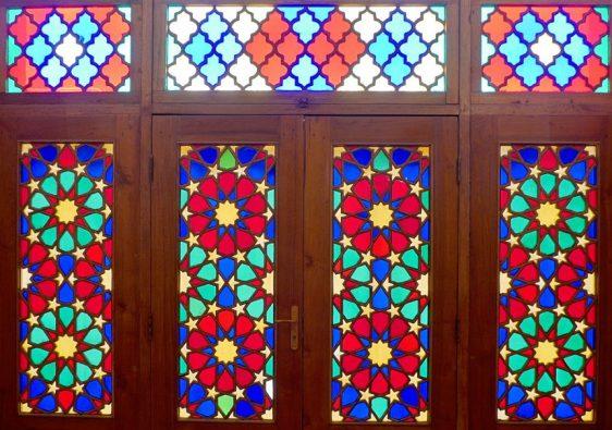 Nasir-ol-Molk - windows and doors in the prayer hall